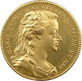 Mort de Marie-Antoinette, jeton en cuivre doré, 1793