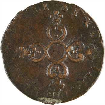 Louis XIV, pièce de six deniers dite Dardenne, 1711 Aix-en-Provence