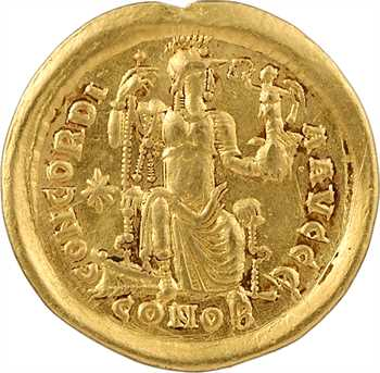 Honorius, solidus, Constantinople, 5e officine, 408-420