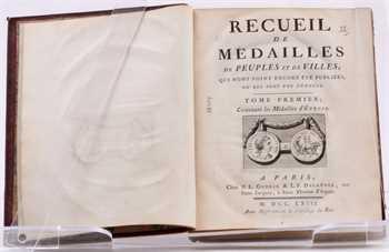 Pellerin (J.), Recueil des médailles de peuples et de villes qui n'ont point encore été publiées ou qui sont peu connues, 1763