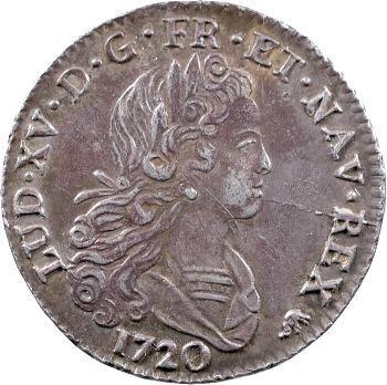 Louis XV, petit louis d'argent, 1720 Bourges
