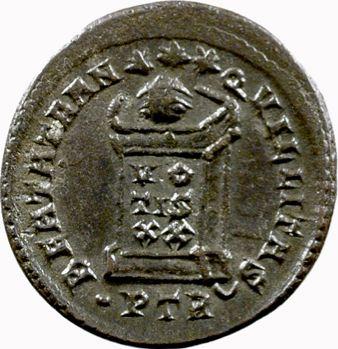 Crispus, nummus, Trèves, 323