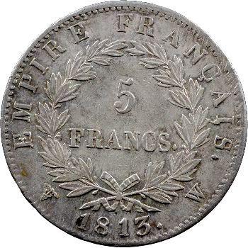 Premier Empire, 5 francs Empire, 1813 Lille