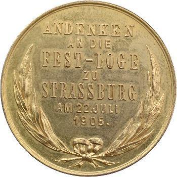 Fête de la loge maçonnique An Erwin's Dom, 1905 Strasbourg