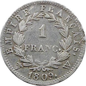 Premier Empire, 1 franc Empire, 1809 Lille