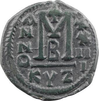 Justinien Ier, follis, Cyzique, 2e officine, An XXIII = 549-550