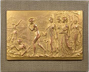 Monaco, Congrès de 1920, plaque uniface d'avers par G.-H. Prud'homme, 1920 Paris