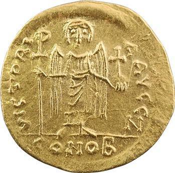 Maurice Tibère, solidus, Théoupolis (Antioche), 7e officine, 582-602