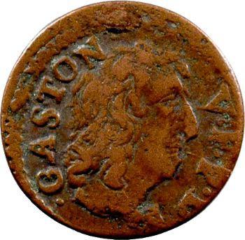 Dombes (principauté de), Gaston d'Orléans, denier tournois type 12, 1651 Trévoux
