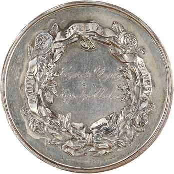 IIIe République, médaille de noces d'argent, par Schmitt, 1906-1911 Lyon