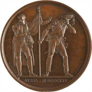 Premier Empire, Napoléon prend congé de la Garde à Fontainebleau, 1814 Paris