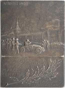 Automobile : hommage à Marcel Renault, par F. Vernon, 1903 Paris