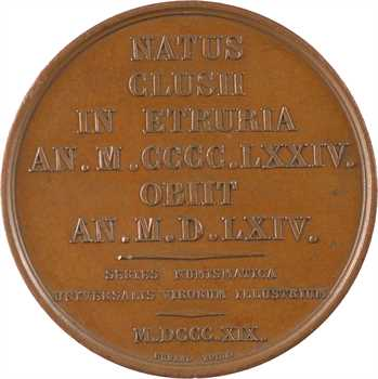 Louis XVIII, Michel-Ange (Galerie numismatique), par Gayrard, 1819 Paris