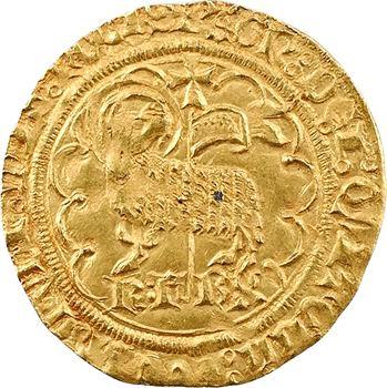 Charles VI, agnel d'or 2e émission, 2e type, La Rochelle