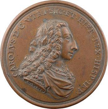 Italie, Deux-Siciles, couronnement de Charles de Bourbon, par Scheper, 1735 Palerme