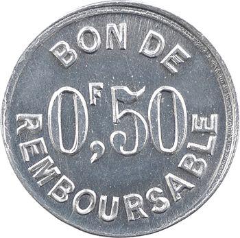 Comores, Société anonyme de la Grande Comore, 0,50 franc, s.d. (1915)