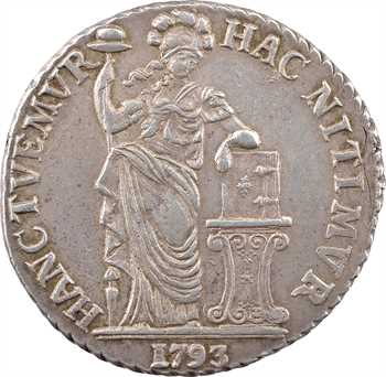 Pays-Bas, Frise occidentale (province de), 3 florins ou gulden, 1793