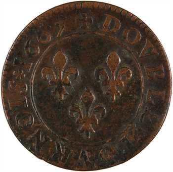 Henri IV, double tournois, 1607 Lyon