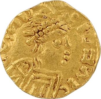 Bourgogne ou Provence, indéterminé, trémissis de VII siliques, c.600-650