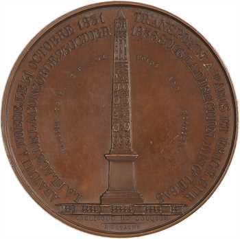 Égypte / Louis-Philippe Ier, inauguration de l'obélisque de Louxor (Louqsor), 1836 Paris