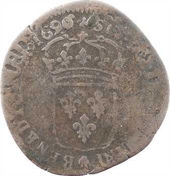 Louis XIV, quinzain aux huit L, 1696/5 Troyes