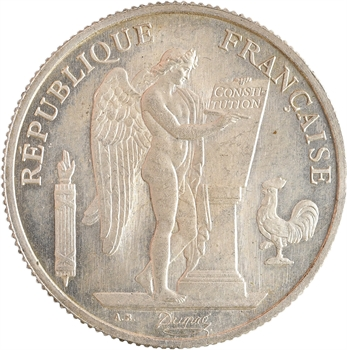 IIIe République, essai au module 10 francs, alliage quaternaire, s.d. Paris