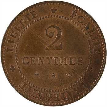 IIIe République, 2 centimes Cérès, 1878 Paris