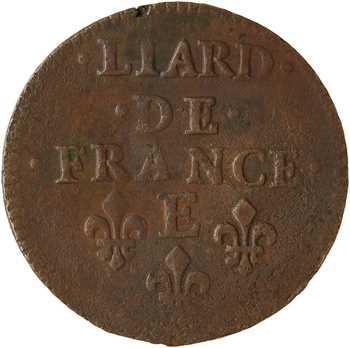 Louis XIV, liard de cuivre, 2e type, 1656 Meung-sur-Loire