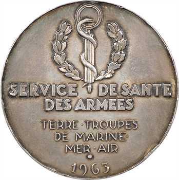 Ve République, Dr Raymond Debenedetti, en argent, par Renard, 1963 Paris