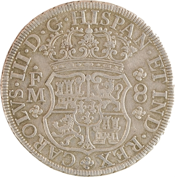 Mexique, Charles III, 8 réaux, 1771 Mexico