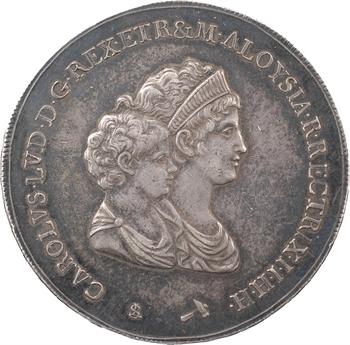 Italie, Étrurie (royaume d'), Charles-Louis, dena 1er type, 1803 Florence