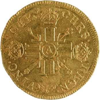 Louis XIV, double louis d'or aux huit L et aux insignes, réformation, 1701 Paris