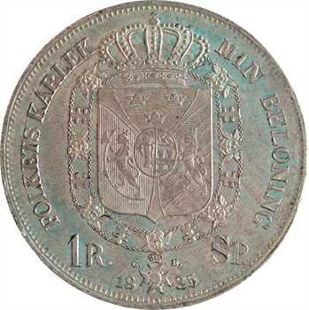 Suède, Charles XIV Bernadotte, riksdaler specie 1er type, 1835 Stockholm