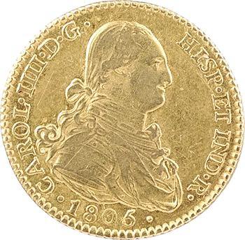 Espagne, Charles IV, 2 escudos, 1805 Madrid