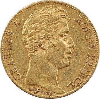 Charles X, 20 francs, 4 feuilles et demie, 1827 Paris