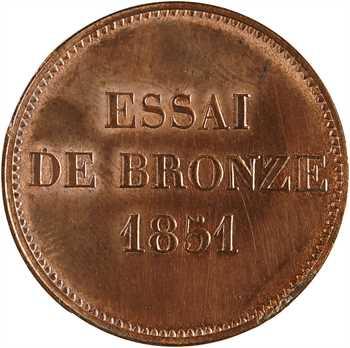 IIe République, essai de 5 centimes à l'effigie de Bonaparte, 1851 Paris