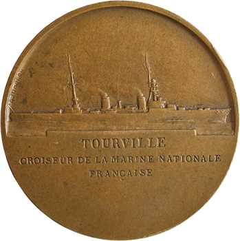 Morlon (A.) : le croiseur Tourville, d'après Pingret, s.d. Paris