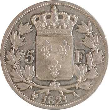 Louis XVIII, 5 francs buste nu, 1821 Paris