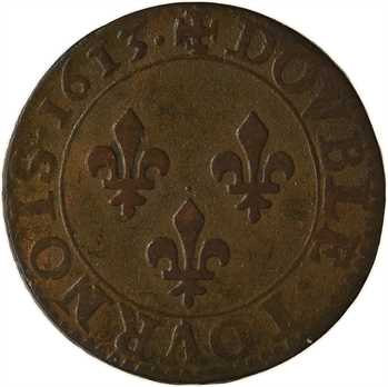 Louis XIII, double tournois 1er type, 1613 Paris