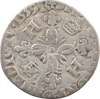 Henri II, douzain aux croissants, 1559 (décembre) Troyes