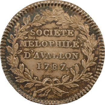Bourgogne, Avallon (ville d'), société mélophile, 1787 Paris