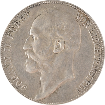 Liechtenstein (principauté du), Jean II, 5 couronnes (kronen), 1904