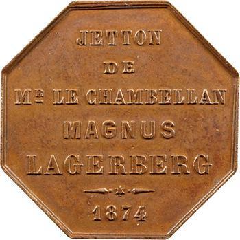 Suède, Magnus Lagerberg, chambellan du roi de Suède, 1874