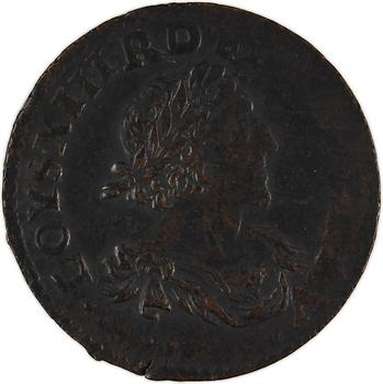 Louis XIII, double tournois, 1638 Vallée du Rhône
