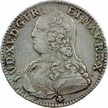 Louis XV, demi-écu aux rameaux d'olivier, 1729 Bordeaux