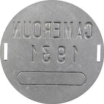 Cameroun, plaque de taxe, 1931