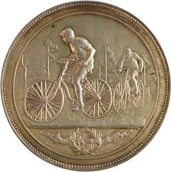 Cyclisme, championnat du vélo-transport parisien, par Lavée, 1892 Paris