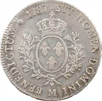 Louis XVI, écu aux branches d'olivier, 1787 Toulouse