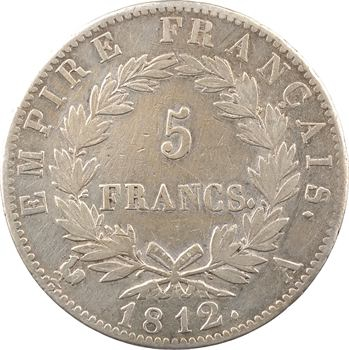 Premier Empire, 5 francs Empire, 1812 Paris
