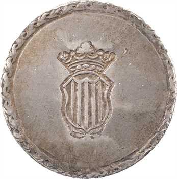 Espagne, Ferdinand VII, duro de 5 pesetas, 1809 Tarragone
